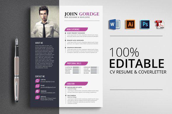 resume templates design creative word cv resume template