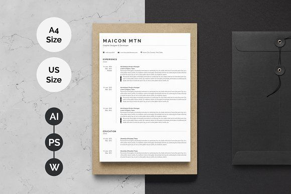 resume templates design minimal resume template 2 pages