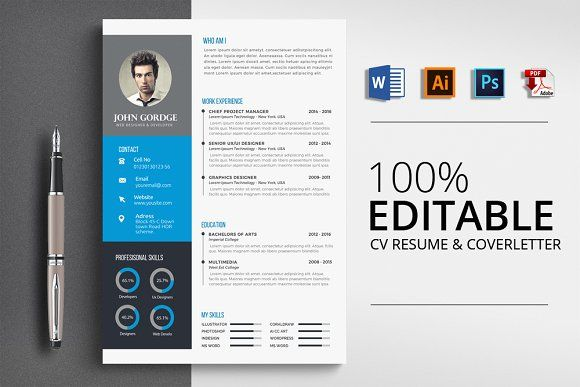 Resume Templates Design Modern CV Word