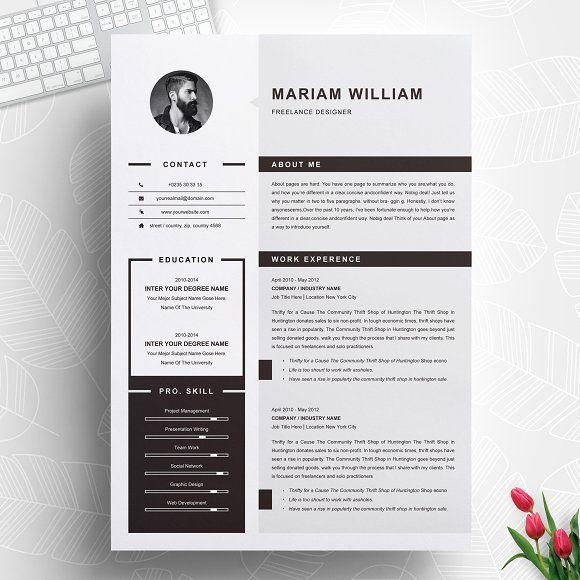 Resume Templates Design Modern Clean Resume Cv