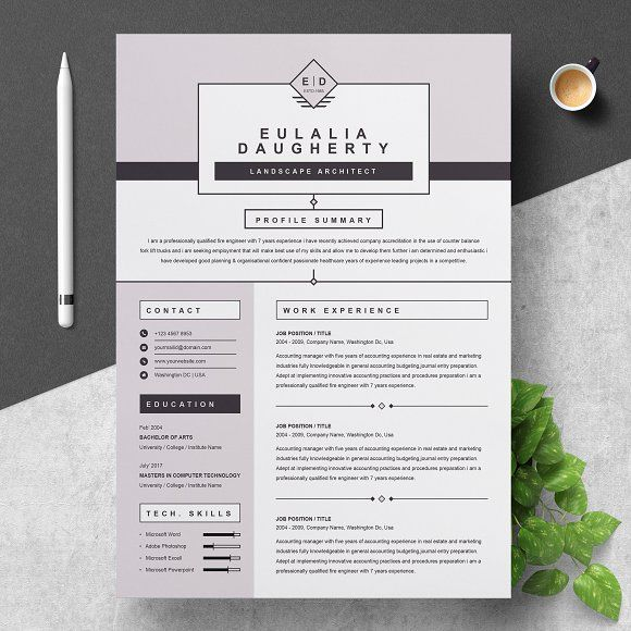 Modern Resume Template CreativeWork247