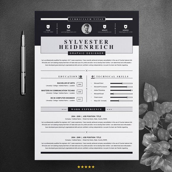resume templates design modern resume template for word