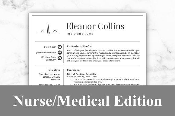 Resume Templates & Design : Nurse Resume Template - Eleanor ...