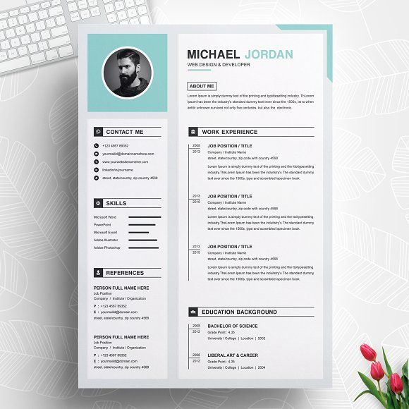 Resume Templates Design One Page Clean