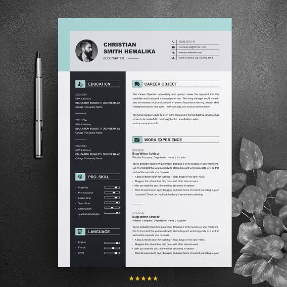 Resume Templates Design Professional Resume Template