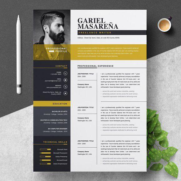 Resume Templates & Design : Professional Word Resume CV ...