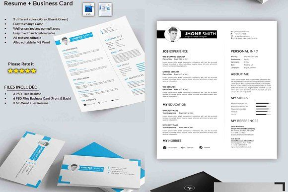 Resume Templates Design Resume With Business Card