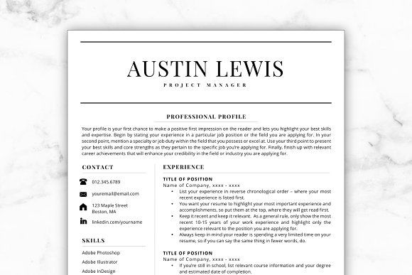 Resume Templates & Design : Resume/CV - Austin CreativeWork247 ...