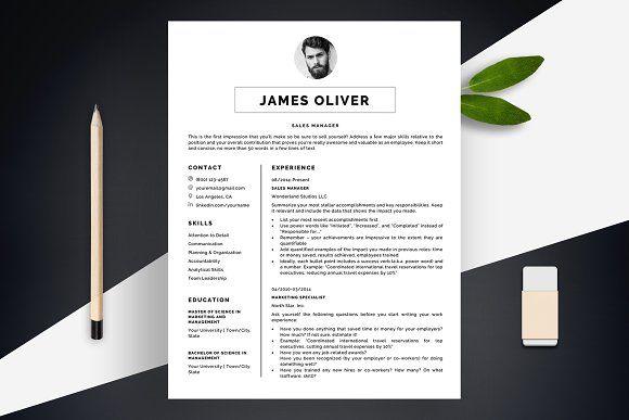 Resume Templates Design Sharp Template CV BONUS