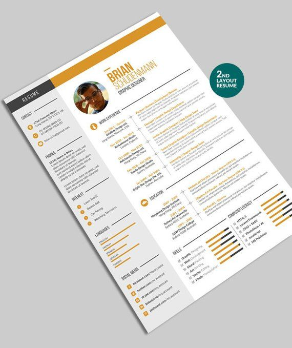 Resume Infographic Cv Resume Template 2 Infographic Curriculum
