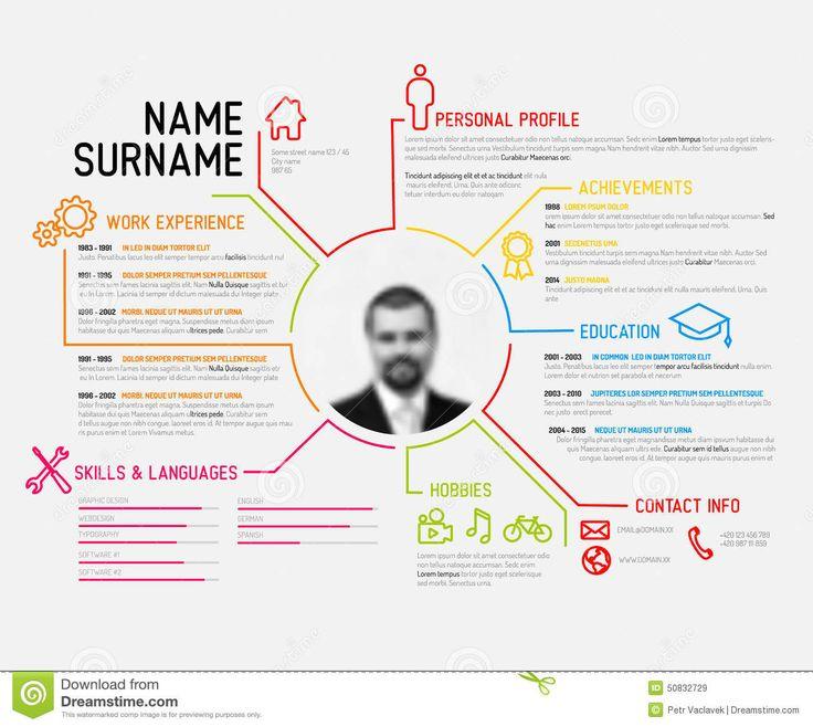 Resume Infographic Calibre Original De Cv Résumé