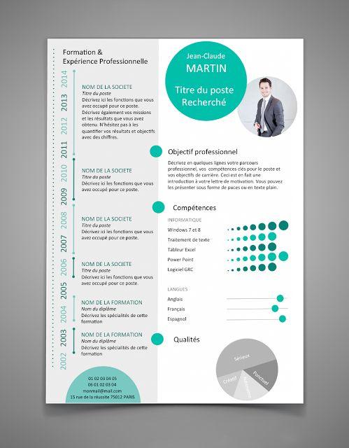 Resume Infographic Cv Modele Gratuit Original Resumes Tn