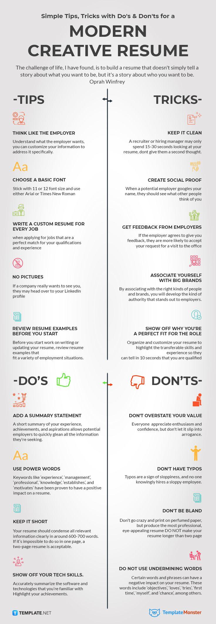 How To Create A Modern Creative Resume Infographics