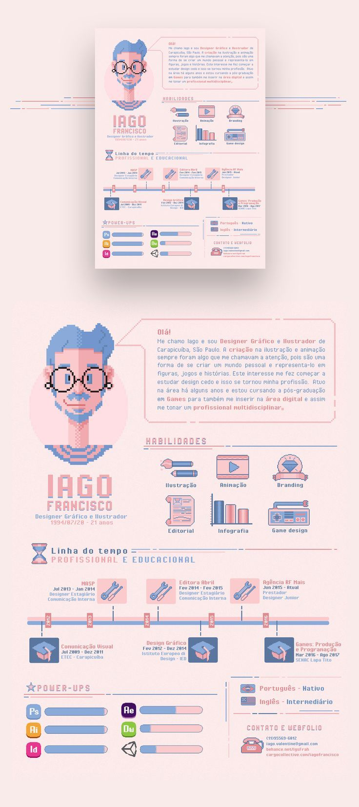 Resume Infographic Iago Francisco Curriculo On Behance