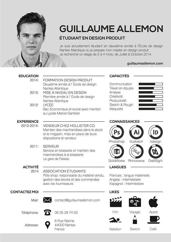 Resume Infographic On Behance