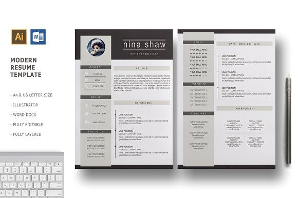 2 Pages Resume Template.Resume Templates Design Hydra 2 Pages Resume Template