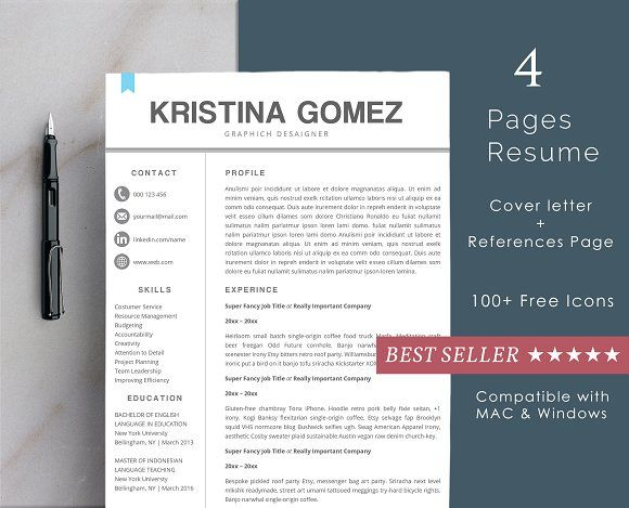 Resume Templates Design Resume Template 2 Pages Cool