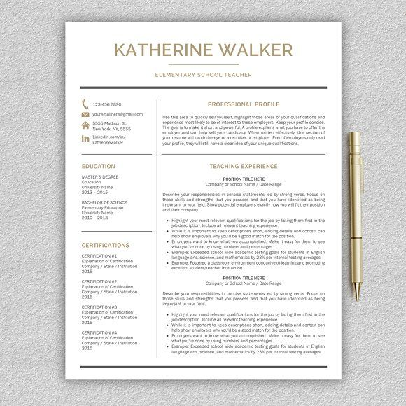 Resume Templates Design Teacher Resume Cv Teacher