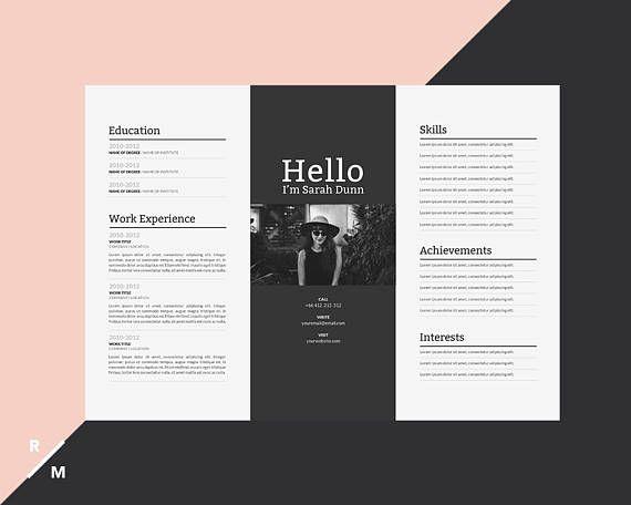 Resume Infographic Modèle De Cv Créatif Paysage Horizontal