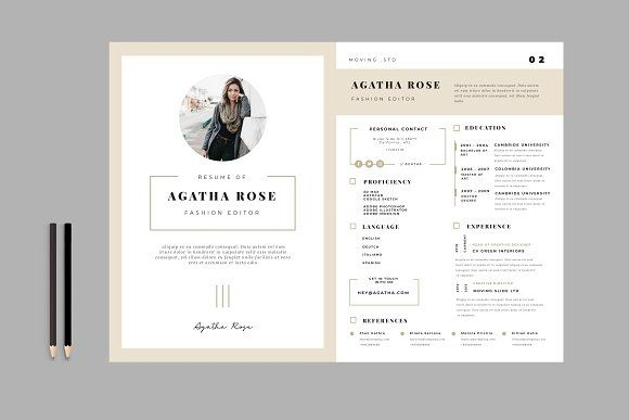 Resume Templates Design Clean CV CreativeWork247