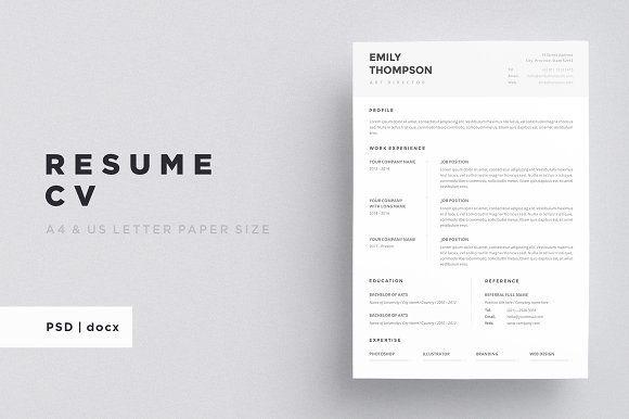 Resume Templates Design Resume Cv Creativework247 Fonts