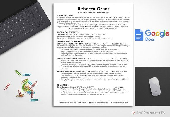 Resume Templates Design Tech Template Google Docs