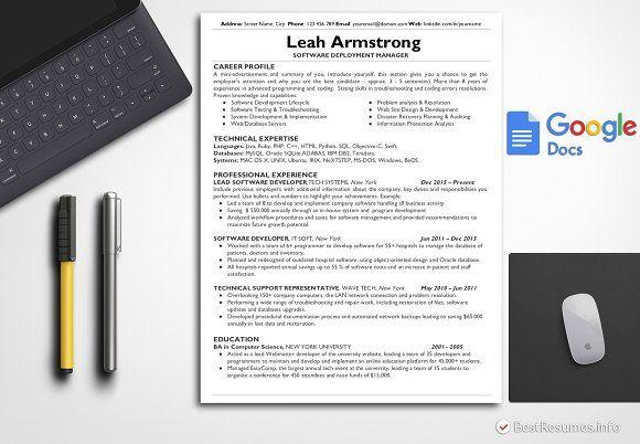 Tech Resume Template Google Docs