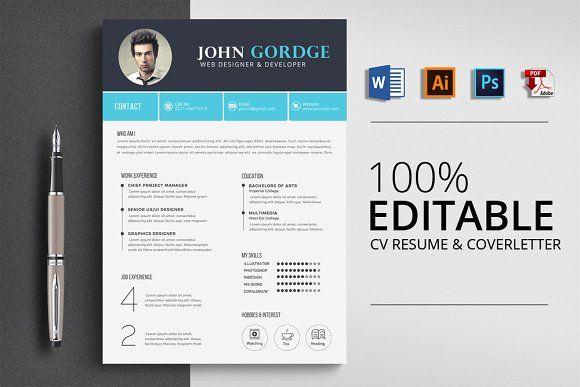 Resume Templates Design Creative Cv Resume Word Template