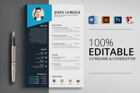 Resume Templates Design Job Cv Resume Word File Template