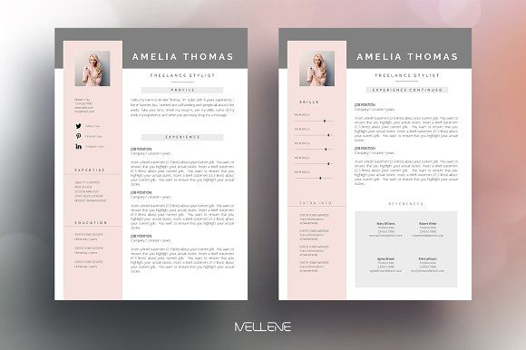 Resume Templates Design Resume Cv Template Amelia