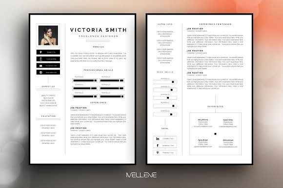 Resume Templates Design Resume Cv Template Victoria