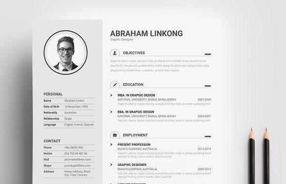 Resume Templates Design Resume Cv With Portfolio