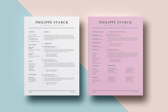 Resume Templates & Design : Resume - Minimalist I ...