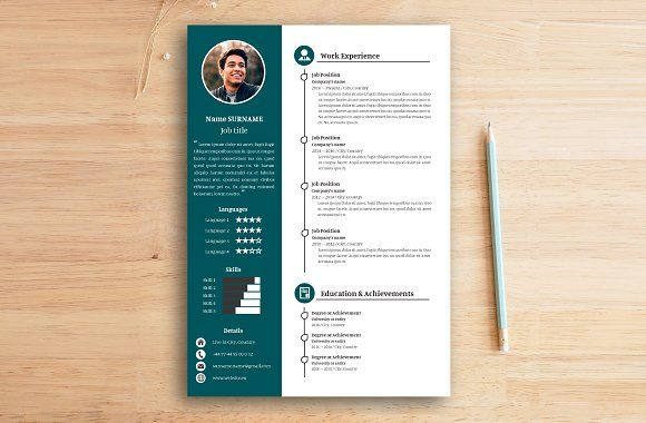 Graphic Designer Resume Template from resumes.tn