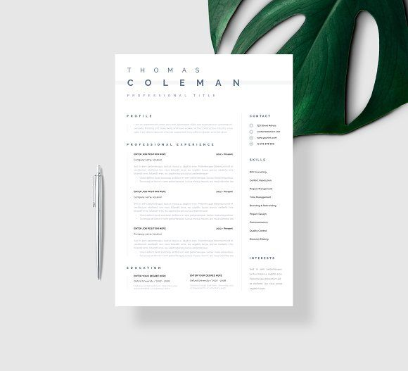 Resume Templates & Design : Simple Resume Template CV ...