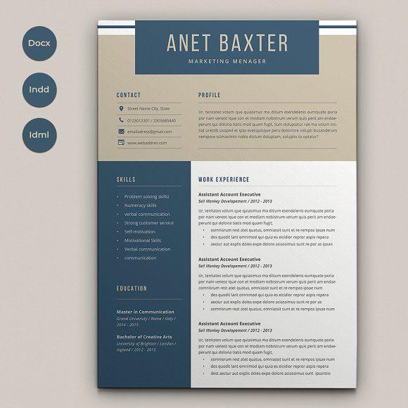 Resume Templates & Design : Resume Anet CreativeWork247 ...