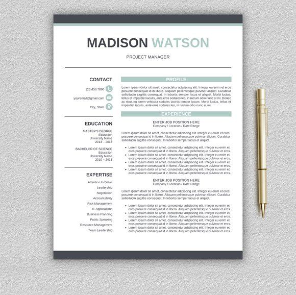 Resume Templates & Design : Resume Template | CV + Cover ...