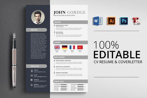 Resume Templates Design Creative Cv Resume Word Design
