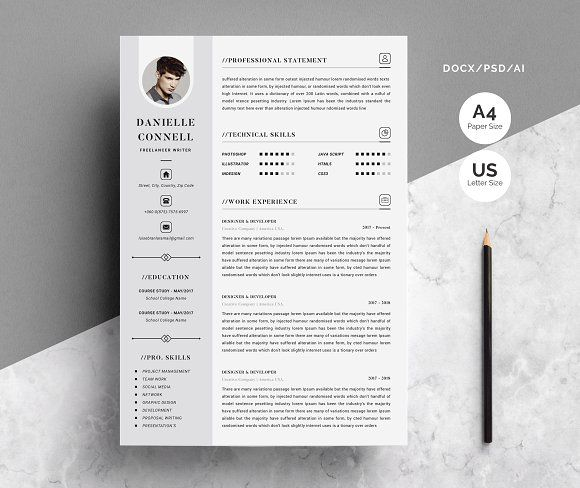 Resume Templates Design Creative Resume Template 4 Pages