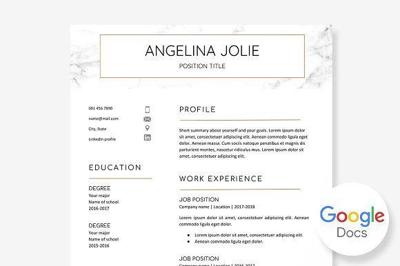 Resume Templates Design Template Google Docs