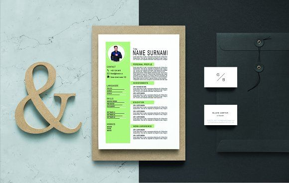 Resume Templates Design CV Template Bonus 4 Mockup