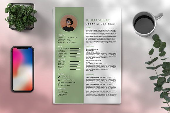 Resume Templates Design Modern Cv Resume Template By