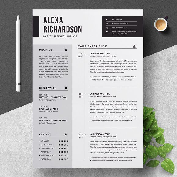 Resume Templates Design CV Template CreativeWork247