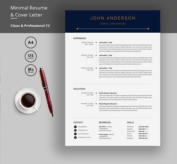 Resume Templates Design Clean CV By Elegant On