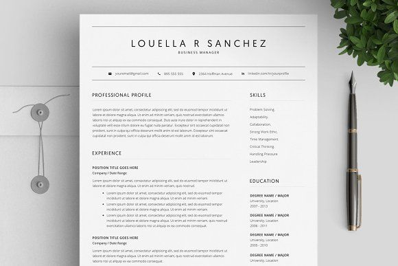 Resume Templates & Design : Resume Template Word & Mac Pages CV by ...