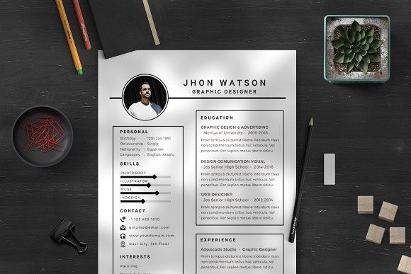 Resume Templates & Design : White Resume Template CreativeWork247