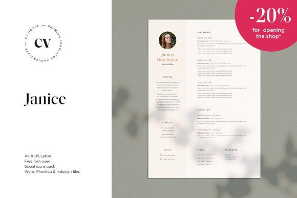 Resume Templates Design Janice Cv Resume 3 Pages