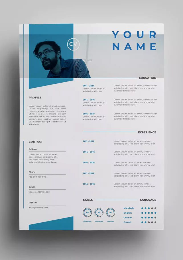 Resume Templates Creative Resume Design Template Ai Eps