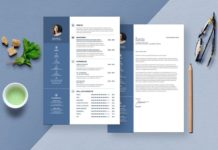 Resume Templates Modern Cover Letter Template InDesign INDD