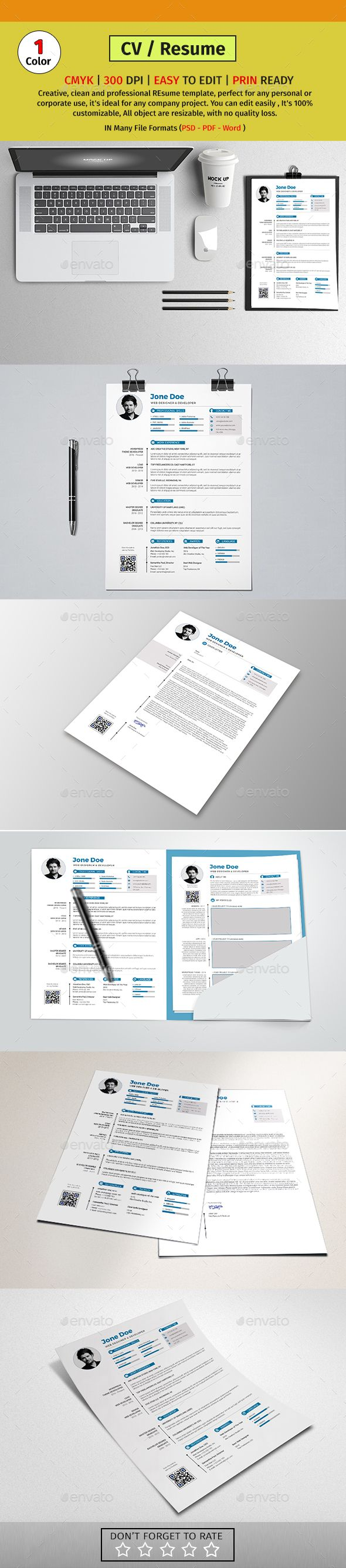 Resume Templates A4 Resume Cv Template Psd Pdf Ms Word